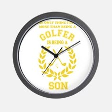 golfer family Wall Clock