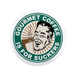 "Gourmet Coffee 3.5"" Button"