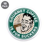 "Gourmet Coffee 3.5"" Button (10 pack)"