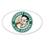 Gourmet Coffee Oval Sticker