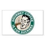 Gourmet Coffee Rectangle Sticker