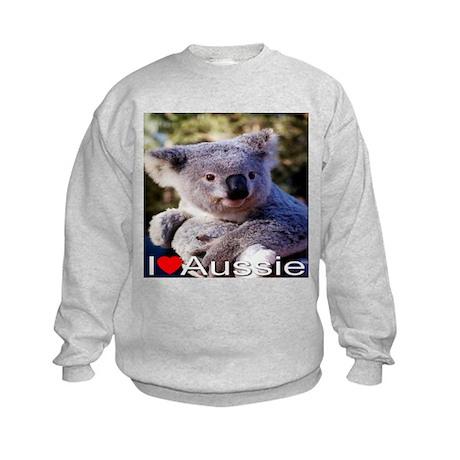 I Love Aussie Kids Sweatshirt