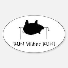 RUN Wilber RUN Oval Decal