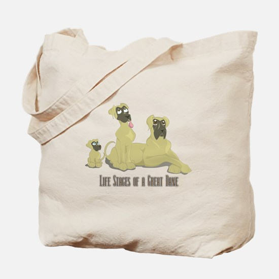 Life Stages of a Natural Fawn Dane Tote Bag