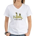 Life Stages of a Natural Fawn Dane Women's V-Neck