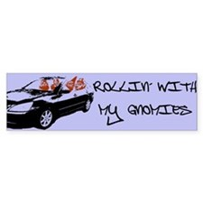 """Rollin' With My Gnomies"" Bumper Bumper Sticker"