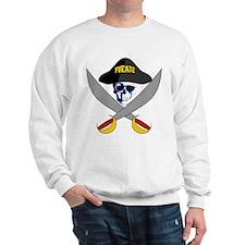 Pirate Symbol With Shades Sweatshirt