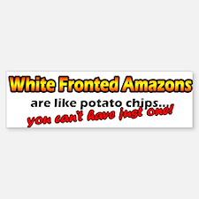Potato Chips White Fronted Amazon Bumper Bumper Bumper Sticker