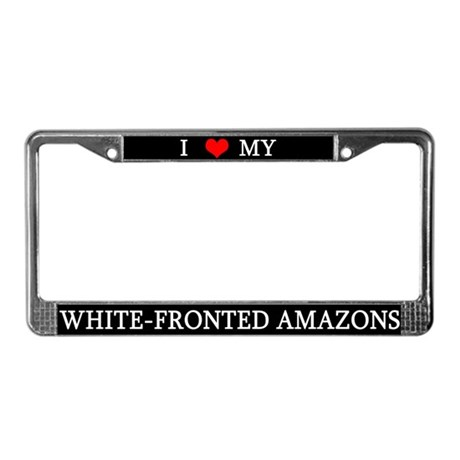 Love White-Fronted Amazons License Plate Frame