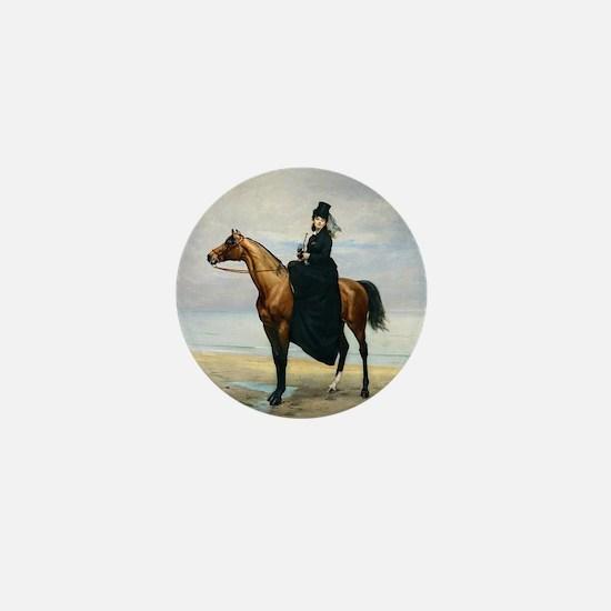 Equestrian Portrait Mini Button