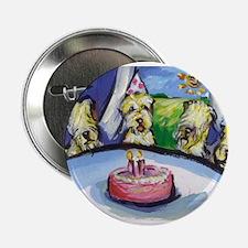 Wheaten Birthday party Button