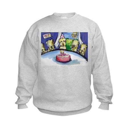 Wheaten Birthday party Kids Sweatshirt