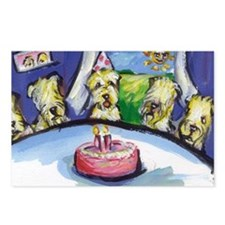 Wheaten Birthday party Postcards (Package of 8)