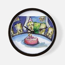 Wheaten Birthday party Wall Clock