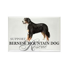 Bernese Mountain Dog Rescue Rectangle Magnet