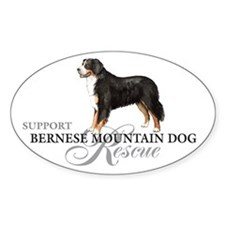 Bernese Mountain Dog Rescue Oval Decal