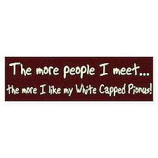 More People White Capped Pionus Bumper Bumper Sticker