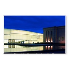 Nelson-Atkins at Night Rectangle Decal