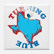 Turning Texas Blue Tile Coaster
