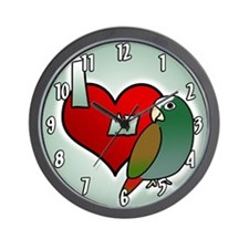 Love White Capped Pionus Clock