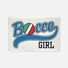 Bocce Girl Rectangle Magnet