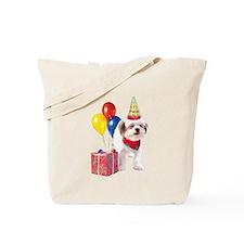 Birthday puppy Tote Bag