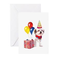 Birthday puppy Greeting Cards (Pk of 10)