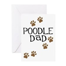Poodle Dad Greeting Cards (Pk of 10)