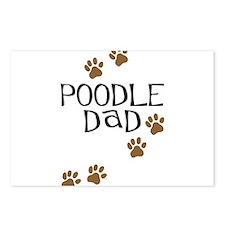 Poodle Dad Postcards (Package of 8)