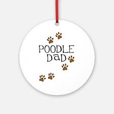 Poodle Dad Ornament (Round)