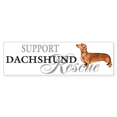 Dachshund Rescue Bumper Sticker