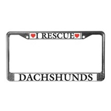 Dachshund Rescue License Plate Frame
