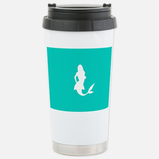 Mermaid (Aqua) Stainless Steel Travel Mug