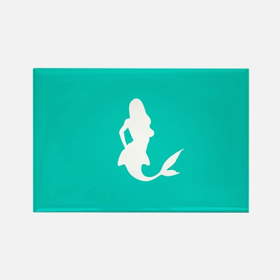 Mermaid (Aqua) Rectangle Magnet