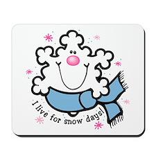 Snowflake Snow Days Mousepad