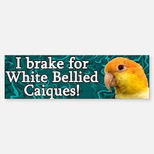 I Brake for White Bellied Caiques Bumper Bumper Bumper Sticker