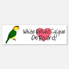 White-Bellied Caique OB Bumper Sticker (white)