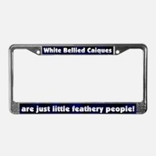 Fthry Ppl White Belly Caique License Plate Frame