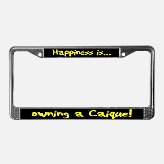 HI Owning Caique License Plate Frame