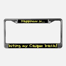 HI Biting Caique License Plate Frame