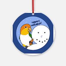 Snowman White Bellied Caique Christmas Ornament