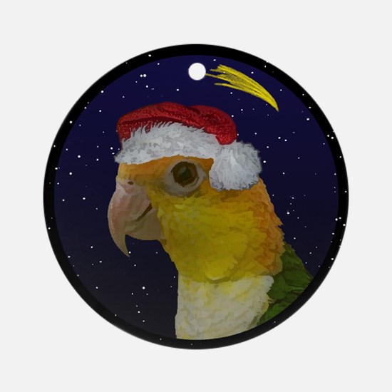 Christmas Night White Bellied Caique Ornament