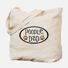 Poodle Dad Oval Tote Bag