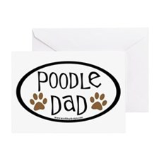 Poodle Dad Oval Greeting Card