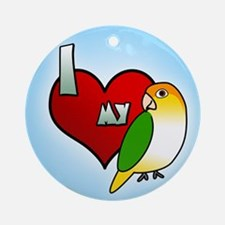 Love White Bellied Caique Ornament (Round)
