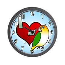 I Love My White Bellied Caique Clock