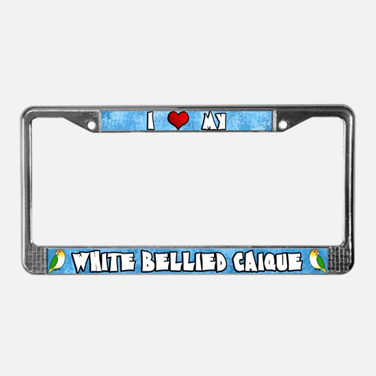 Crtn Love White Bellied Caique License Plate Frame