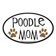 Poodle Mom Oval Oval Decal