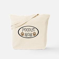Poodle Mom Oval Tote Bag