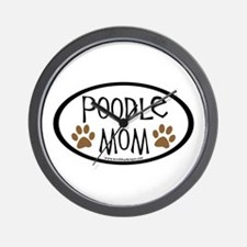 Poodle Mom Oval Wall Clock
